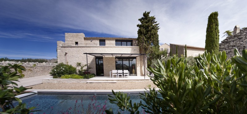 R novation et extension de maison de village gordes 2014 - Maison secondaire cotiere avec vue katch ...